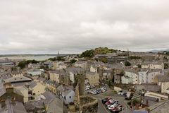 Сaernarfon,view of the town from the tower,Great Britain Stock Image