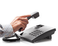 Сalling by phone. Stock Photo