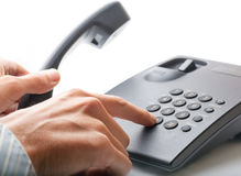 Сalling by phone. Royalty Free Stock Photos