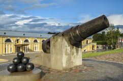 Ð¡annon in Daugavpils Fortress Royalty Free Stock Images