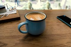 Сappuccino in cafe Royalty Free Stock Photography