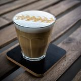 Сappuccino in glass Royalty Free Stock Photos
