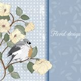 Ð¡ard with bird Stock Photo