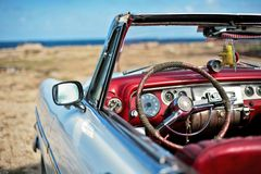 сcuban vintage car royalty free stock photos