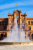 сentral building and fontain at Plaza de Espana royalty free stock photo