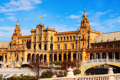 сentral building at Plaza de Espana. Sevilla royalty free stock photo