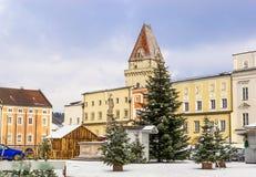 Сentral square in Freistadt - Upper Austria stock photo