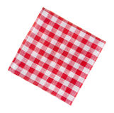 Ð¡heckered linen napkin isolated on white Stock Images