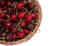 Ð¡herries and basket stock photography