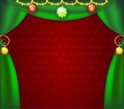 сhristmas_curtains royalty free illustration