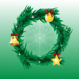 �hristmas spruce chaplet Stock Photo