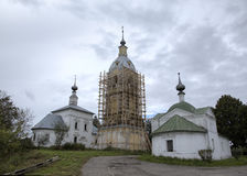 Ð¡hurch of a Sign (Znamenskaya) and Church of the Deposition of the Robe (Rizopolozhenskaya) on a Mzhara. Stock Photography