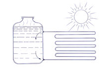 Ð¡ircuit the heater working on solar energy stock images