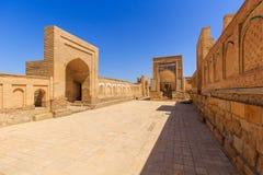 Ð¡ity of the dead. Memorial complex, necropolis Chor-Bakr in Bukhara, Uzbekistan. UNESCO world Heritage. Ð¡ity of the dead. Memorial complex, necropolis Chor royalty free stock photography