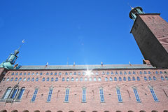 Ð¡ity Hall. Stockholm, Sweden - March, 16, 2016: Ð¡ity Hall - one of the most popular tourist places in Stockholm, Sweden stock photography