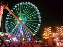 Ð¡ity Lights. Ferris wheel in the night & x28;Berdyansk& x29 royalty free stock photos