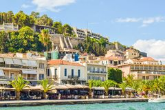 Ð¡ityscape of Nafplion royalty free stock photo