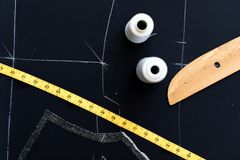 Ð¡lothing fabric industry store stock photography