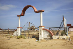 Ð¡oast of the Caspian Sea in Mardakan. Azerbaijan.  stock image