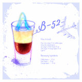 Ð¡ocktails B-52. Stock Photo