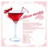 Сocktails morse martini. royalty free illustration