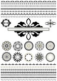 Ð¡ollection of borders and round ornaments Stock Photography