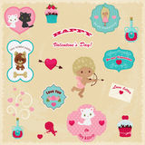 Сollection of Valentine's Day vector icons Royalty Free Stock Image