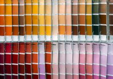 Ð¡olor palette for choosing fabric or paint. Background from color swatches royalty free stock image