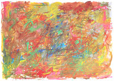 Сolor texture of brush strokes with ragged edges. Stock Photography