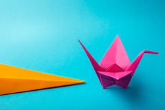 Ð¡olored paper origami Royalty Free Stock Image