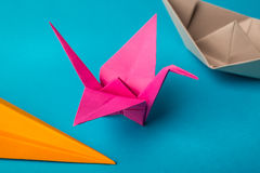 Ð¡olored paper origami Stock Photography