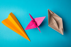 Ð¡olored paper origami Royalty Free Stock Photography