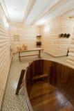 сomfortable sauna Stock Photos
