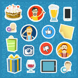 Сommnication app stickers set Stock Images