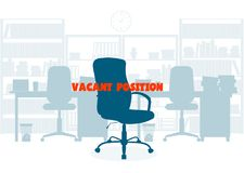 Ð¡oncept of employment. Empty chair. Search of office personnel. On the image presented Ð¡oncept of employment. Empty chair. Search of office personnel stock illustration