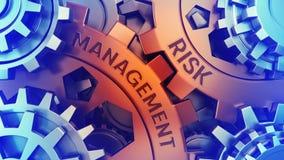 Сoncept Risk Management on the Gears. Red and Blue gear weel background illustration 3d illustration vector illustration