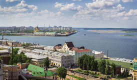 Сonfluence of the Volga and the Oka. Nizhny Novgorod. Russia Stock Photo