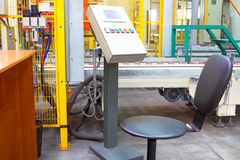 Сonveyor line at factory Stock Photo