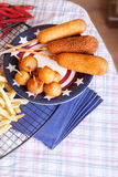 �orndog with french fries Stock Photo