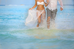 Сouple in water Royalty Free Stock Image