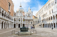 Ð¡ourtyard of Doge's Palace (Palazzo Ducale) in Venice Stock Photos