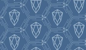 Сryptocurrency EOS - seamless pattern. royalty free illustration