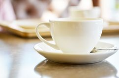 Ð¡up of coffee on table in coffee shop cafe. Cofe time. Ð¡up of coffee on table in cafe ,Morning light royalty free stock photo