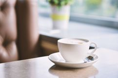 Ð¡up of coffee on table in cafe ,Morning light. Cofe time stock photo