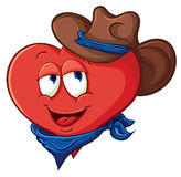 Сute cartoon heart cowboy Stock Photography