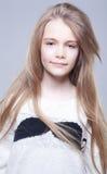 �ute teenage girl with long hairs Stock Image