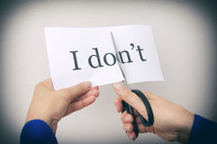 Ð¡utting paper with words. Royalty Free Stock Photos