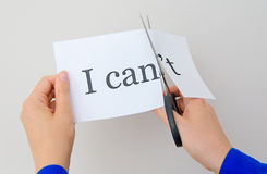 Ð¡utting paper with words. Stock Photography