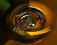 элегантность абстрактной цифровой фрактали творческая, динамика иллюстрация вектора