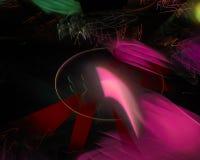 Элегантность украшения абстрактной цифровой фрактали творческая футуристическая, динамика бесплатная иллюстрация